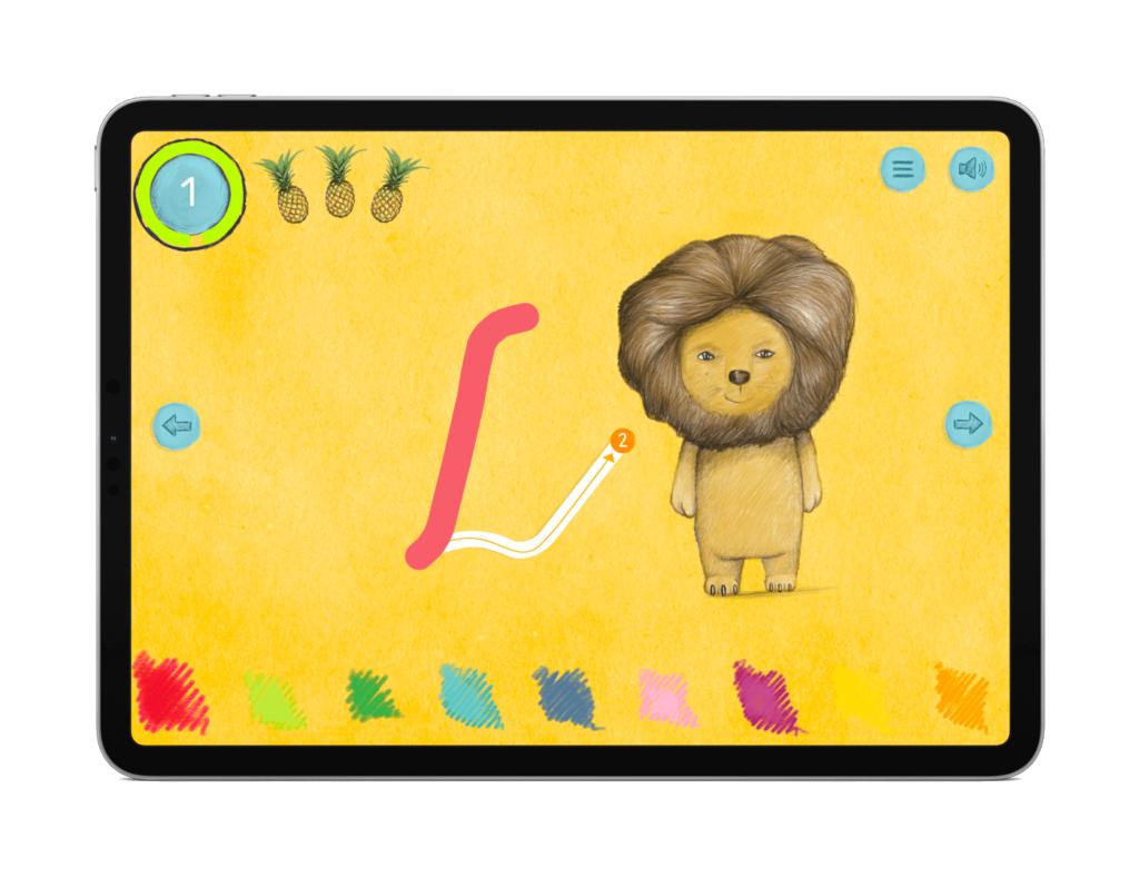 spiel Schreiben Lernen ABC Buchstaben M+T