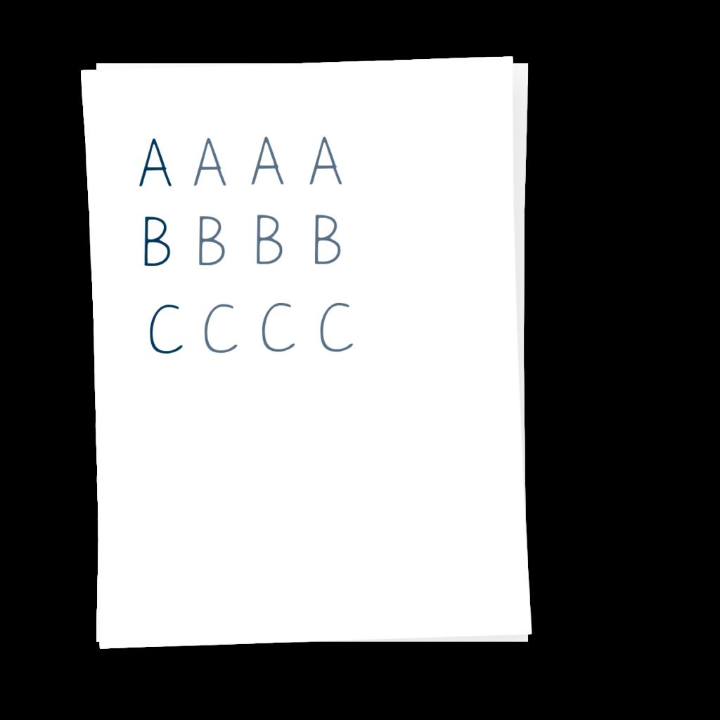 Schreiben Lernen ABC Buchstaben M+T